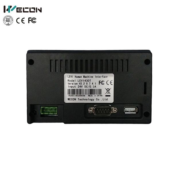 LEVI430T 4.3 İnç Operatör Paneli (HMI) Görseli