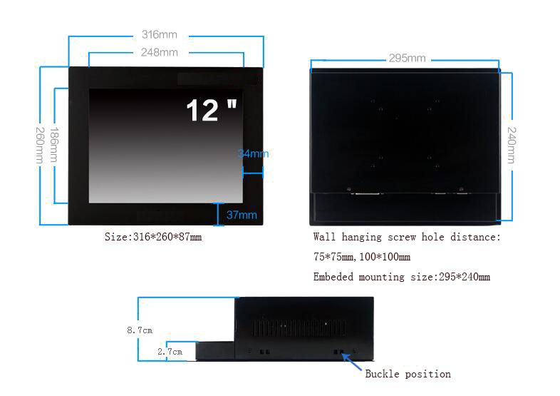 12 İnç Endüstriyel PC WPC-120403A Görseli