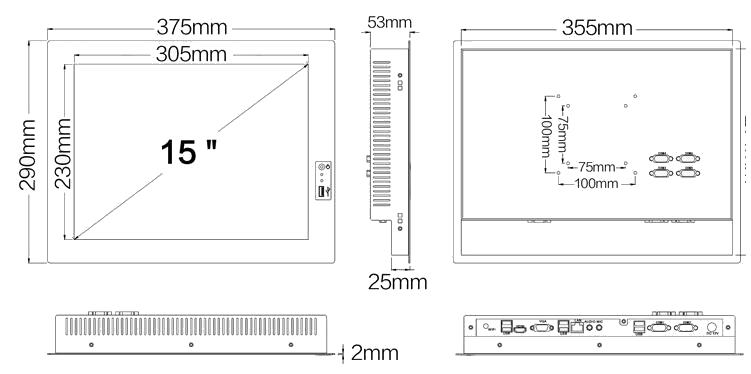 15 İnç Endüstriyel PC WPC-150403A Görseli